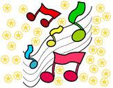 Dibujo Notas en la escala musical pintado por CESARM