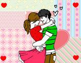 Dibujo Pareja enamorada pintado por kala06
