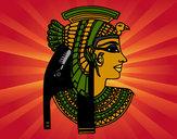 Dibujo Perfil de Cleopatra pintado por rubielita