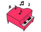 Dibujo Piano de cola pintado por Elisas