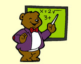 Dibujo Profesor oso pintado por justina12