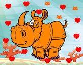Dibujo Rinoceronte de Java pintado por fresitaRoc