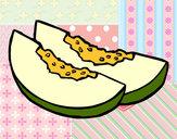 Dibujo Rodajas de melón pintado por queyla
