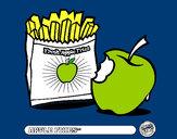 Dibujo Apple fries pintado por vicpaodie9