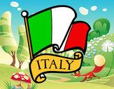 Dibujo Bandera de Italia pintado por p1a2