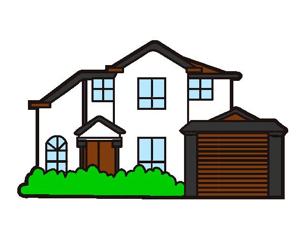 Dibujo de chalet pintado por belieber12 en el - Dibujar planos de casas ...