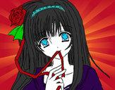Dibujo Chica anime pintado por JennyL