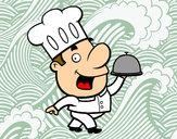 Dibujo Cocinero gracioso pintado por vicpaodie9
