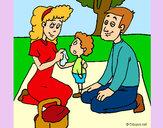 Dibujo De picnic pintado por Diamond