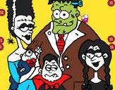 Dibujo Familia de monstruos pintado por bellakita