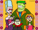 Dibujo Familia de monstruos pintado por mairta