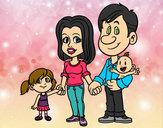Dibujo Familia feliz pintado por vicpaodie9