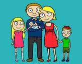 Dibujo Familia unida pintado por Diamond