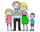 Dibujo Familia unida pintado por SofiaLeono