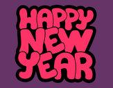 Dibujo Feliz año nuevo pintado por vicpaodie9