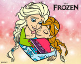 Dibujo Frozen Elsa y Anna pintado por mairta