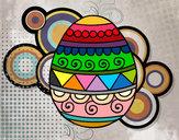 Dibujo Huevo de Pascua decorado pintado por loquita15