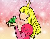 Dibujo La princesa y la rana pintado por nahiafrias