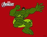 Dibujo Los Vengadores - Hulk pintado por queyla