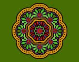 Dibujo Mandala mosaico modernista pintado por blanca