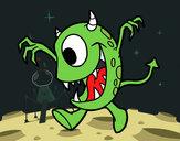 Dibujo Monstruo con un ojo pintado por bellakita