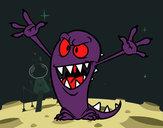 Dibujo Monstruo malo pintado por bellakita