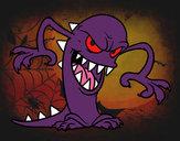 Dibujo Monstruo malvado pintado por bellakita