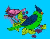 Dibujo Pájaros pintado por duart