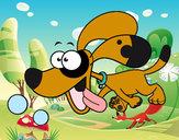 Dibujo Perrito corriendo pintado por Gene_2603