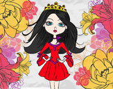 Dibujo Princesa moderna pintado por wichita
