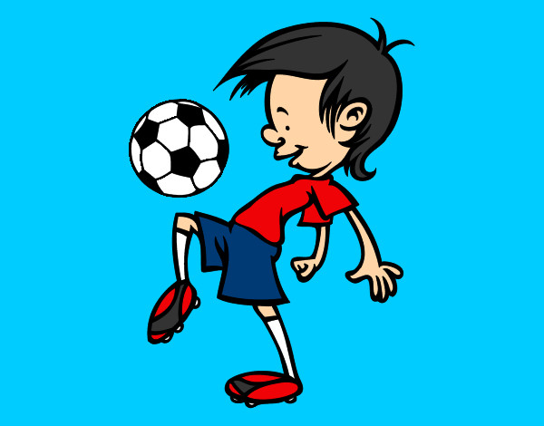 Dibujo De Jugador De Fútbol Con Balón Pintado Por Chicoxd: Dibujo De Toques Con El Balón Pintado Por Duart En