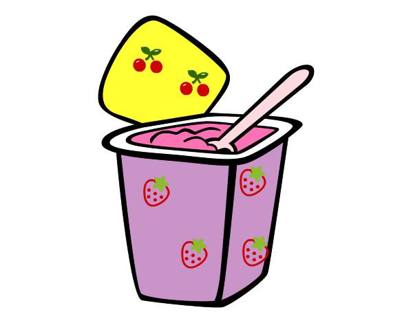 Yogur Natural Pintado Por Analucia14 9923072 on Dibujos Kawaii Para Colorear