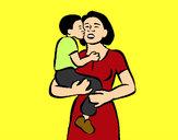 Dibujo Beso maternal pintado por Diamond