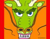 Dibujo Cabeza de dragón pintado por 2Tigresas