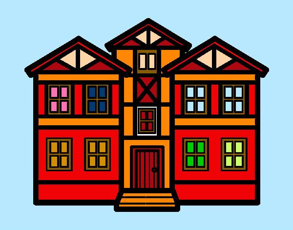 Dibujo De Casas Pintado Por Yaideet En Dibujos.net El Día