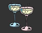 Dibujo Copas de champán pintado por queyla