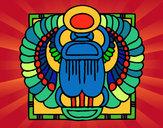 Dibujo Escarabeo pintado por rubielita