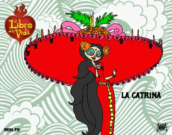 Dibujo De La Catrina Pintado Por Roci2004 En Dibujosnet El Día 10
