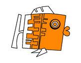 Dibujo Signo de Piscis pintado por RO_CI_2004