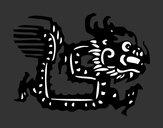 Dibujo Signo del dragón pintado por martina50