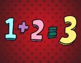 Dibujo 1+2=3 pintado por Diamond