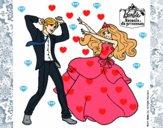 Barbie bailando con un amigo