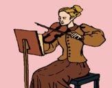 Dibujo Dama violinista pintado por Diamond