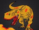 Dibujo Dinosaurio enfadado pintado por jefferson2