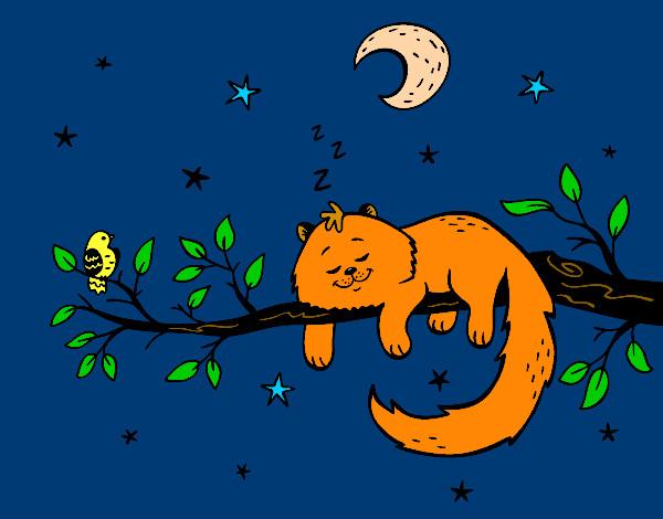 Gatos y lunas dibujos - Dibujos de gatos pintados ...