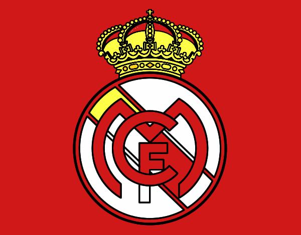 Dibujo Escudo del Real Madrid C.F. pintado por jimel22