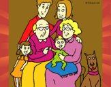 Dibujo Familia pintado por saliana