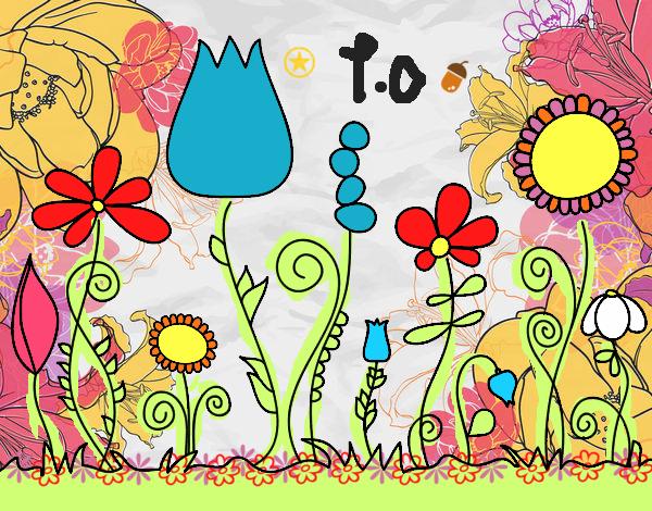 Dibujo de el jardin embrujado pintado por en for Jardin dibujo