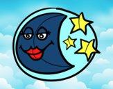 Dibujo Luna Menguante pintado por josed03