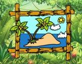 Dibujo Marco con palmeras pintado por 04102004
